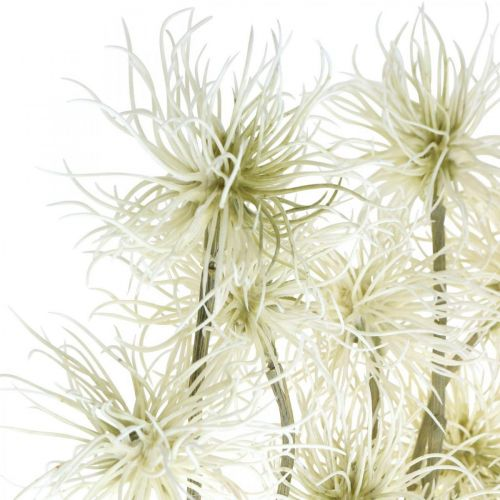 Xanthium kunstbloem crème herfstdecoratie 6 bloemen 80cm 3st