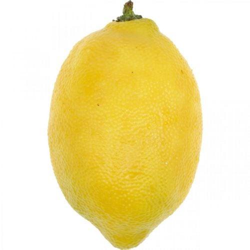 Kunstfruit, citroen, decoratief fruit L8.5cm Ø5cm 4st