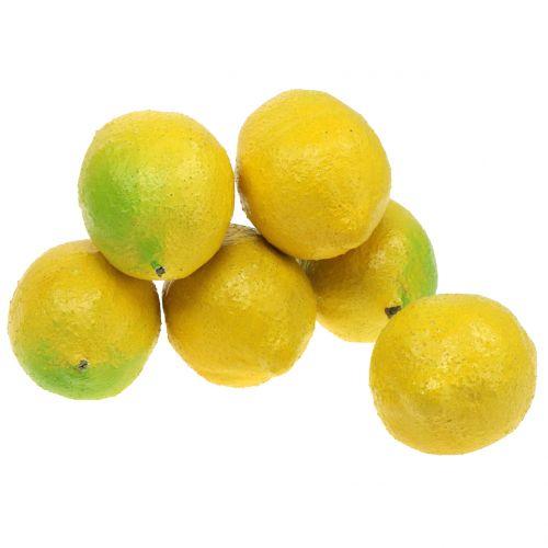 Decoratieve citroenen 10cm 6st