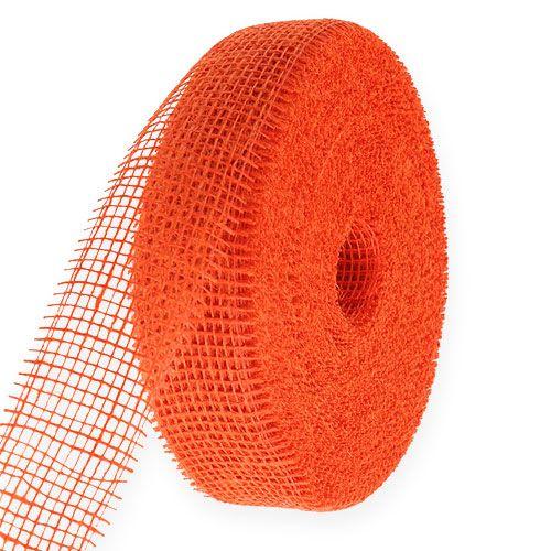Jute lint oranje 5cm 40m