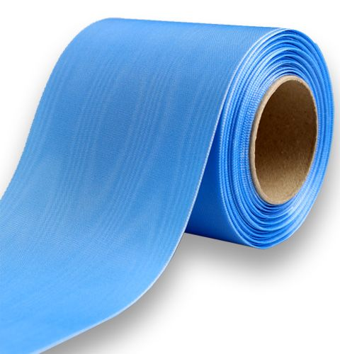 Kranslint lichtblauw 100mm 25m