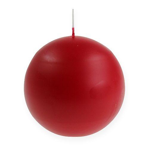 Ball kaarsen 100mm rood 6st