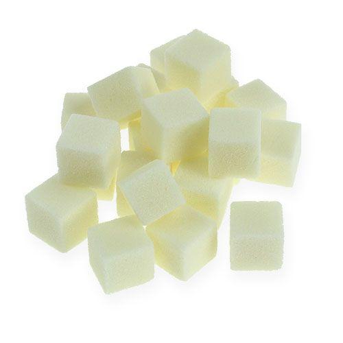 Natte schuim mini-kubus crème 300st