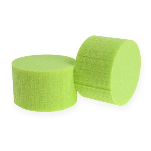 Push-in cilinder Ø8cm groen 6st
