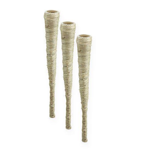 Sisal zak gebleekt Ø1.5cm L15cm 20st