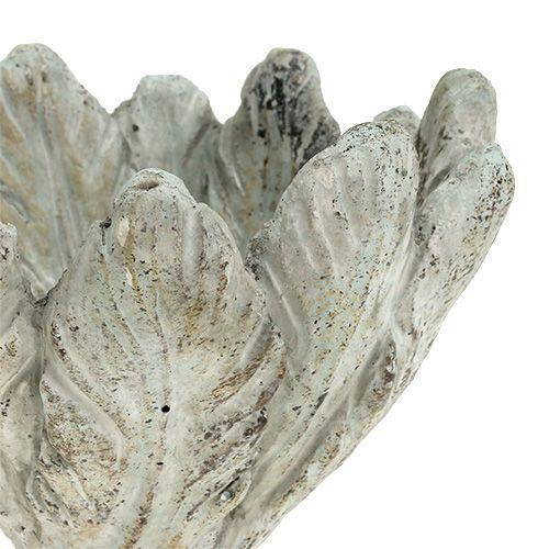 Plantenbak met verenpatroon Ø15cm H10cm