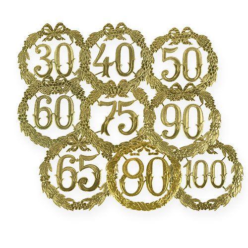 Jubileumnummers 24cm goud