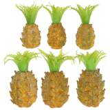 Mini-ananas kunstmatig H6.5cm - 8cm 6st
