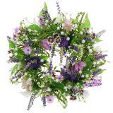 Krans dambord bloem / lavendel / lila Ø28cm