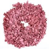 Krans eikenbladeren roze gewaxt Ø38cm