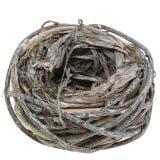 Paasmand gemaakt van natuurlijke takken, witgewassen Ø13cm 3st