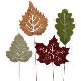 Plant plug blad 8-10cm naturel / groen / paars 24st