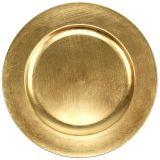Kunststof bord 25cm goud met bladgoud effect