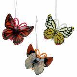 Vlinder om kleurrijk geassorteerde 5,5cm 3st op te hangen