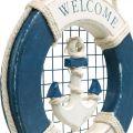 Decoratieve reddingsboei, maritiem, drijvende ring om op te hangen Ø14cm