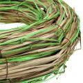 Bastkrans met wilgen natuur / groen Ø40cm